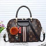 WOAIRAN Frauen Umhängetasche Weibliche Vintage Druck Handtasche Damen Freizeit Einfache Tote Umhängetasche Mode Streifen Shell Tasche Umhängetasche Schwarz
