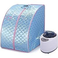 Turefans Portátil Sauna de Vapor SPA en Casa y Silla Pérdida de Peso Adelgazamiento Baño Interior Belleza (Azul)