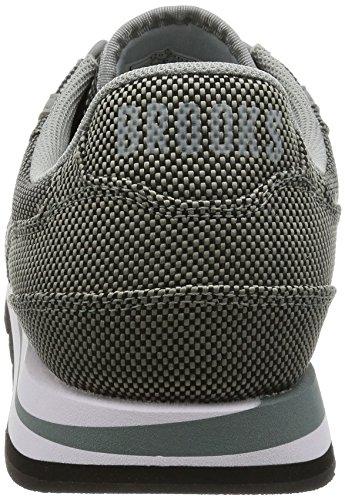 Brooks Hommes Jet Noir/Blanc Chariot Basket Nature Grey