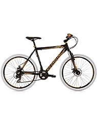 KS Cycling Fahrrad Mountainbike Hardtail Compound RH 46 cm, Schwarz, 26 Zoll, 102M
