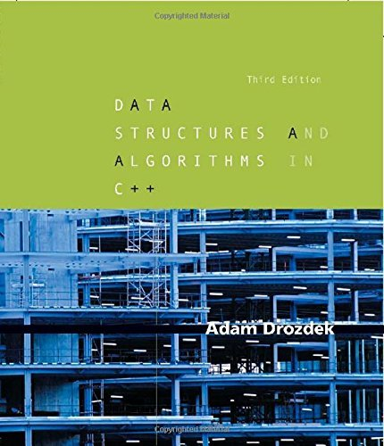 Data Structures and Algorithms in C++ by Adam Drozdek (2004-09-24)