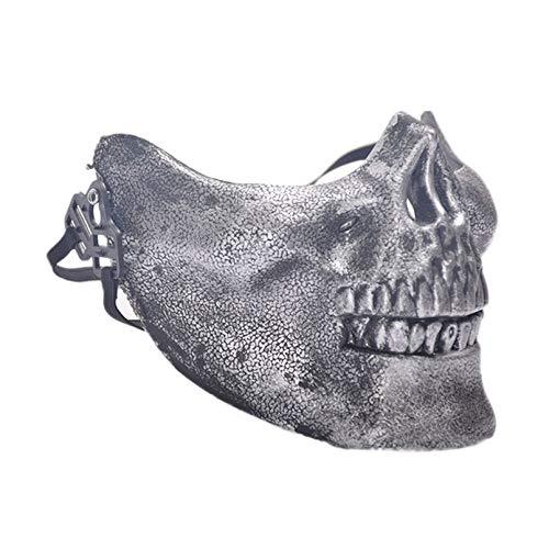 Durobayuusaku Halloween-Maskerade-Maske Cosplay Horror Schädel-Gesichtsmasken Partei Schablonen-Kostüm-Partei-Dekor Prop Spielen Scary ()
