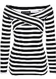 Carmen Shirt Pullover schwarz-weiß gestreift 956443 (48/50)