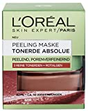 L'Oreal Paris Tonerde Absolue Rote Peeling Maske, mit Rotalgen, reinigt intensiv, verfeinert Poren und glättet den Teint, 50 ml