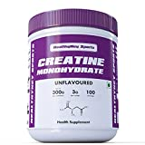 #8: HealthyHey Sports Creatine Monohydrate, 100 Servings (Unflavoured, 300g)