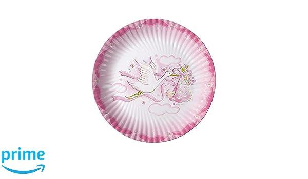 Piatti Di Carta Battesimo : Takestop set pezzi piatti piatto di carta cm per feste