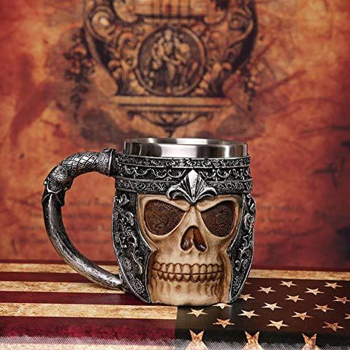 cke 3D Axe epacket Griff Viking Warrior 450 ml schädel Becher Gothic tankard Halloween Dekoration Skeleton Tasse Bierkrug Mann Geschenk, s5,450 ml (. ()