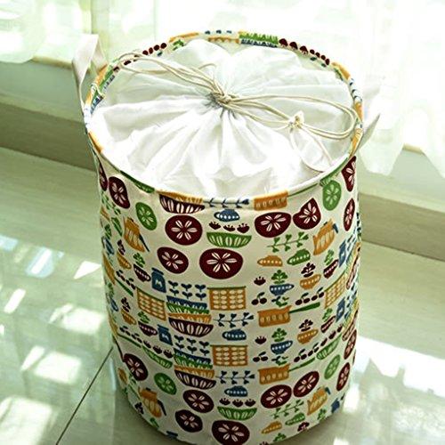 QHGstore Poutre portuaires Vêtements Toys Box Panier de rangement Organisateur de rangement pliable baril Container Chouette 0675