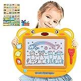 Peradix Lavagna Magnetica Tavolo da Disegno cancellabile Magica per Bambini Lavagna Doodle Un Anno 2 Anni 3 Anni 4 Anni - Giocattoli educativo e Gioco Creativo (Giallo)