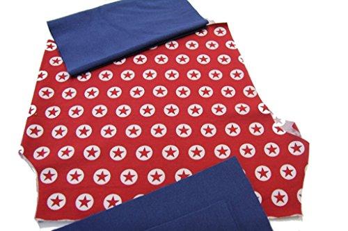 pinidi/DIY Couture mitwachs Pantalon étoile en cercle rouge, poignets Bleu Rouge
