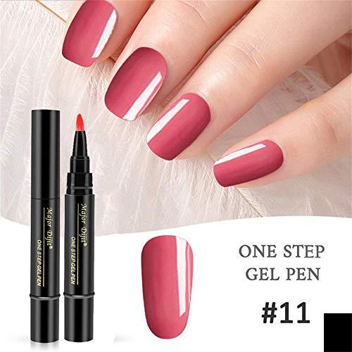 1 Pc 3 En 1 Vernis à Ongles Gel UV, Nail Gel Vernis À Laque Stylo Vernis Une Etape Nail à Utiliser Bringbring