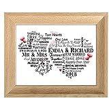 Personalised Wedding Print Word Art Gift for Bride - Best Reviews Guide