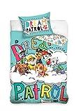 Spin Master Paw Paw Patrol Lit pour Housse de couette Parure de lit pour enfant 100x 135cm 100% coton, 100% coton, Paw17-a, 100 x 135cm