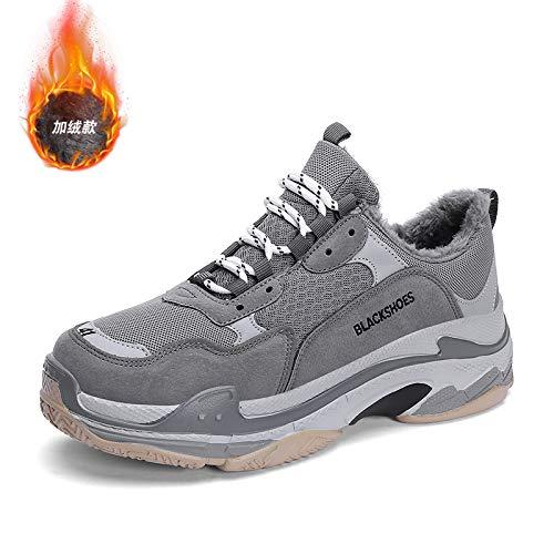 Na-Zh Scarpe da Tennis da Uomo Scarpe Casual Trendy Super Fuoco Inverno Vecchie Scarpe Calde,Frassino Nero, 41
