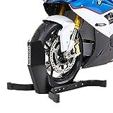 Constands Easy Plus - Motorradwippe für Anhänger Transportständer Montageständer - Radhalter Radklemme Roller Vorderrad Wippe Hinterrad Motocross Harley 15 16 17 18 19 20 21 Zoll