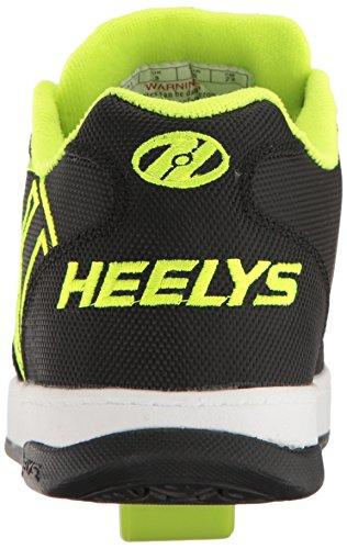 Heelys Propel 2.0, Sneaker a Collo Basso Bambino Nero (Black / Bright Yellow / Ballistic)