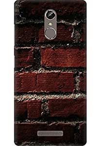 AMEZ designer printed 3d premium high quality back case cover printed hard case cover for Gionee Marathon S6S (bricks-wall--)