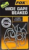 Fox Edges Armapoint Wide Gape Beaked Hooks - 10 Karpfenhaken, Angelhaken zum Karpfenangeln, Haken für Karpfen, Boiliehaken