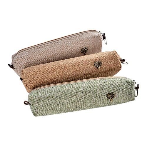 bigboba 5pcs Mini Canvas Porte-monnaie Portefeuille pour femme petit sac porte-monnaie Carino Sac de rangement pour clés, oreillette, rouge à lèvres, papier 4 * 4 * 19.5CM Set-11