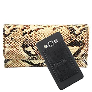 DooDa PU Leather Wallet Flip Case Cover With Card & ID Slots For HTC Desire C - Back Cover Not Included Peel And Paste