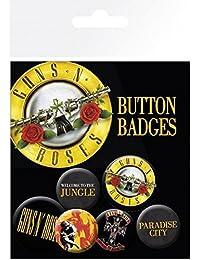 GB eye, Guns N Roses Lyrics and Logos, Pack de Chapas