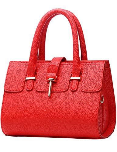 fd43fb6a421c9 Menschwear Damen Handtasche Marken Handtaschen Elegant Taschen Shopper  Reissverschluss Frauen Handtaschen Rose Rot