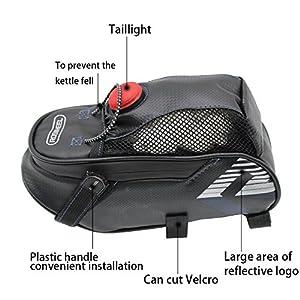 Bolsa de Bicicleta, Bolsa Trasera Mochila para sillín, Bolsa de Silla plegable para al aire libre ciclismo