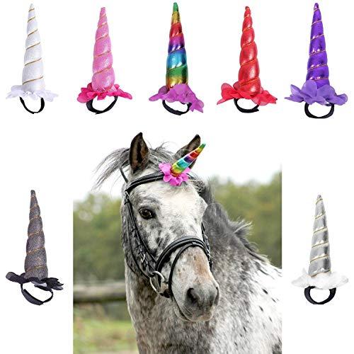 NETPROSHOP Trensenschmuck Einhorn für die Trense Ihres Pferdes, Farbe:Bunt