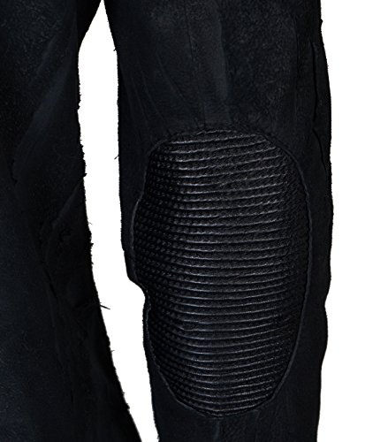 TIGHA Herren Wildlederjacke Ronald im Vintage-Design schwarz Black