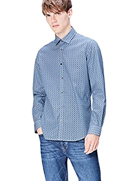 FIND Camicia a Quadretti Slim Fit Uomo