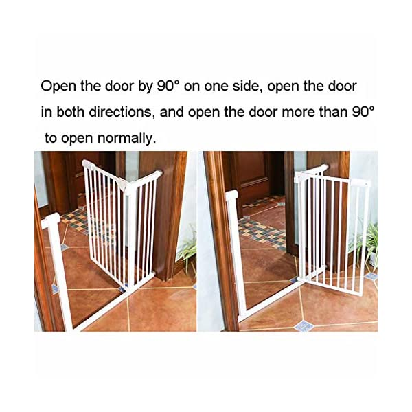 Child Safety Gate Pet Gate Punch-Free Automatic Locking Stairs Fence Small Pets Isolation Gate Door Width 71-180CM High 100CM (Size : 174-180CM) Hongsemenlan In order to allow you to buy a doorbar that better suits your needs, please measure your specific size when ordering, then contact our customer service or send us an email to tell us your size. We will customize a suitable fence for you. Features: Punch-free installation, easy to install, does not damage the wall. 90 ° of one side open, two-way door, normally open may be greater than 90 °. Double lock to prevent children mistakenly opened, magnetic locks, automatic door, 52CM free access to the channel. 5