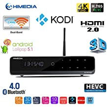 """Himedia Q10 Pro 4k (Ultra HD) 3d Media Player Android 5.1 Smart TV Box Mini PC 2GB/16GB Bluetooth 4.0 Dual Band WiFi with 3.5"""" HDD BaY Home Theater Player"""