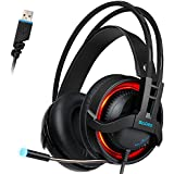 SADES R2 USB Wired Virtual 7.1 Channel Stereo Surround Sound Gaming Headset