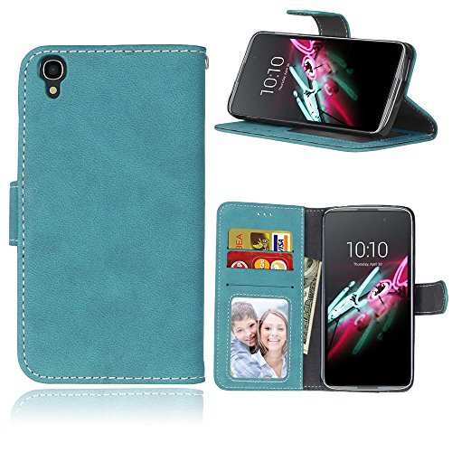 cozy-hut-per-alcatel-one-touch-idol-3-47-zoll-blu-custodia-retro-matte-modello-design-con-cinturino-