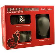 Triple 8Unisex Park 3Pack Set muñeca Rodillera, codera Protector para rodillas, unisex, color negro, tamaño large