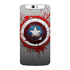 Radiant Awesome Blood and Sheild Back Case Cover for Oppo N1