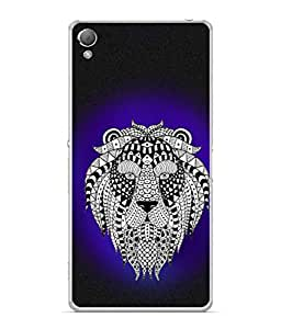 PrintVisa Lion Clipart High Gloss Designer Back Case Cover for Sony Xperia X :: Sony Xperia X Dual F5122