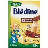 Blédina blédine dosettes céréales pour bébé saveur vanille / cacao 240g dès 6 - ( Prix Unitaire ) - Envoi Rapide...