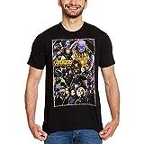 Marvel Camiseta Avengers para Hombre Infinity War Poster Collage Cotton Black - L