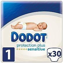 Dodot Protection Plus Sensitive Pañales Talla 1 (2-5 kg) 30 Pañales