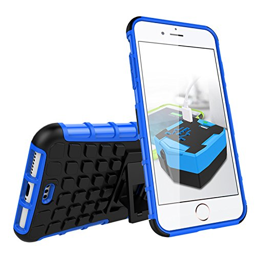 BCIT iPhone 7 Plus Cover - Alta qualità Doppio Strato ibrido Cellulari Case Custodia protettivo Per iPhone 7 Plus - Arancione Blu