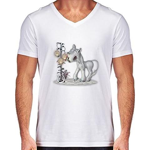 Camiseta V Cuello para Hombre - Poco Copo De Nieve by Illu-Pic.-A.T.Art