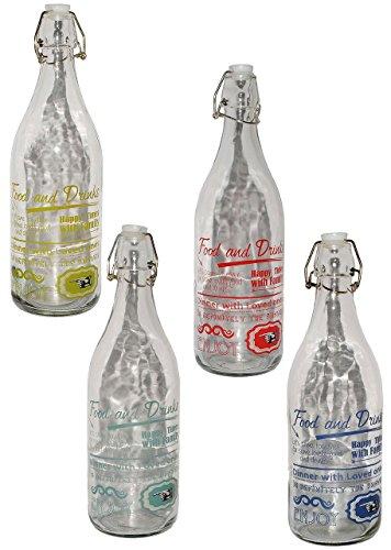 1 Stück _ große Flasche mit Bügelverschluß -