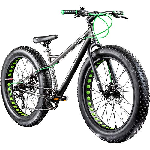 Galano 26 Zoll Fatbike Fatman Mountainbike MTB Hardtail 4.0 fette Reifen Fahrrad (Grau)