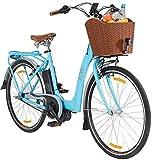 LLOBE E-Bike City Damen Blue Glider, 28 Zoll, 3 Gang, Mittelmotor, 374 Wh 71,12 cm (28 Zoll)