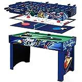 FZTX-LPX Calcio Balilla Multifunzionale/Biliardo/Tavolo da Hockey su Ghiaccio/Tavolo da Ping Pong 4 in 1 Adatto per Giochi al Coperto e all'aperto per Adulti e Bambini