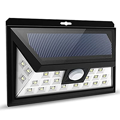 Litom 24 LED Solar Lights, Outdoor Solar Security Lights, Solar Lights Garden Wall Lights Motion Sensor Lights for Patio, Deck, Yard, Weatherproof - low-cost UK light shop.