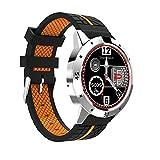 ZHAGOO Bluetooth Smart Watch Con Control Remoto De La Cámara Podómetro Sports Fitness Tracker Reloj De Pulsera Con Control Del Ritmo Cardíaco, Adulto Niño Hombre Mujer.ZHA-GOO,Orange