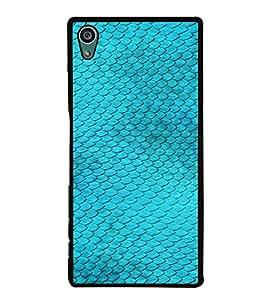 PrintVisa SONZ5-Blue Fish Design Metal Back Cover for Sony Xperia Z5