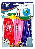 3 Riesige Luftballons (Punchballs) mit 140cm Umfang // Helium-geeignet // Luftballon Party Feier Kinder Geburtstag Kindergeburtstag Spiel Geschenk